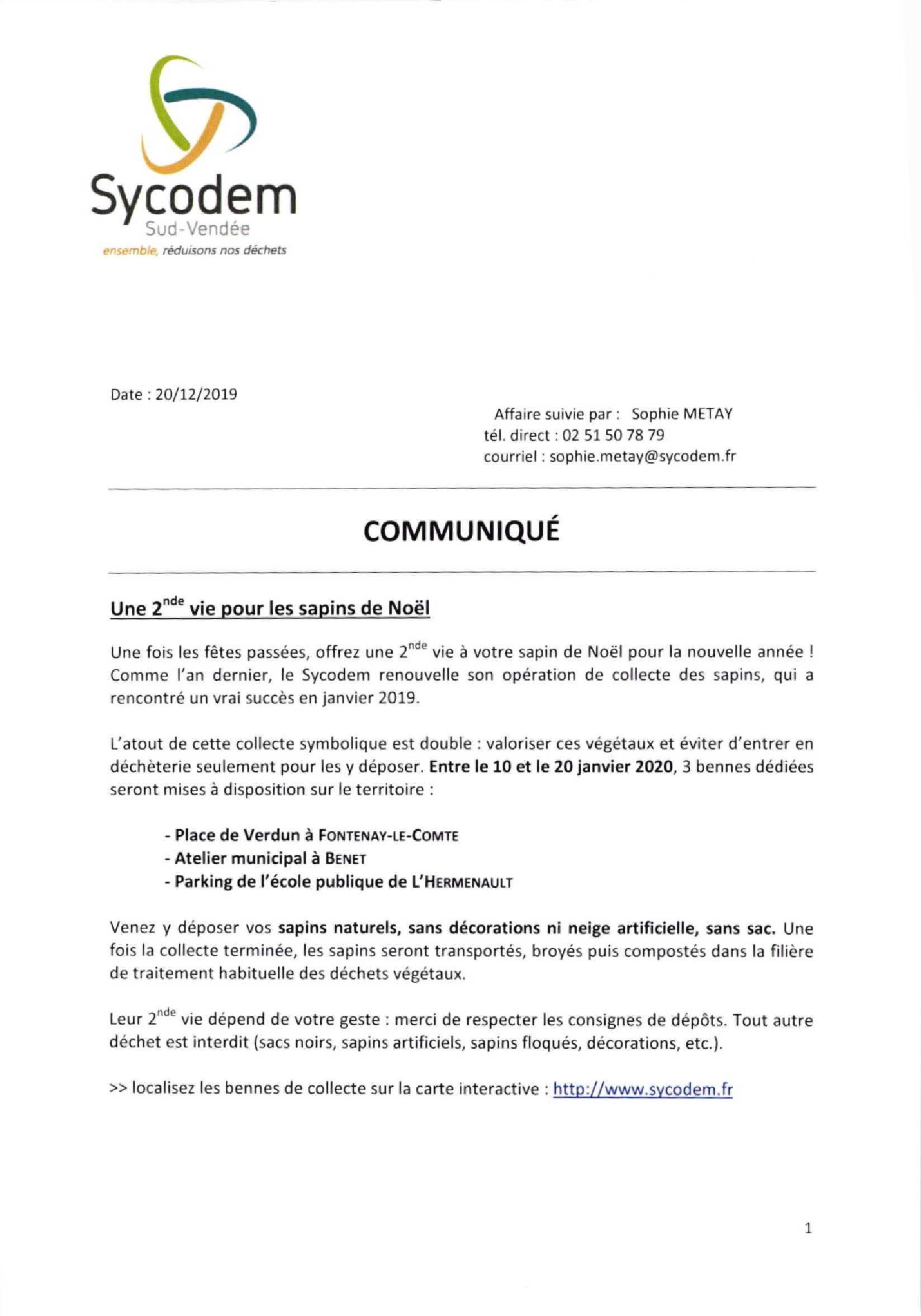 communiqué Sycodem 1