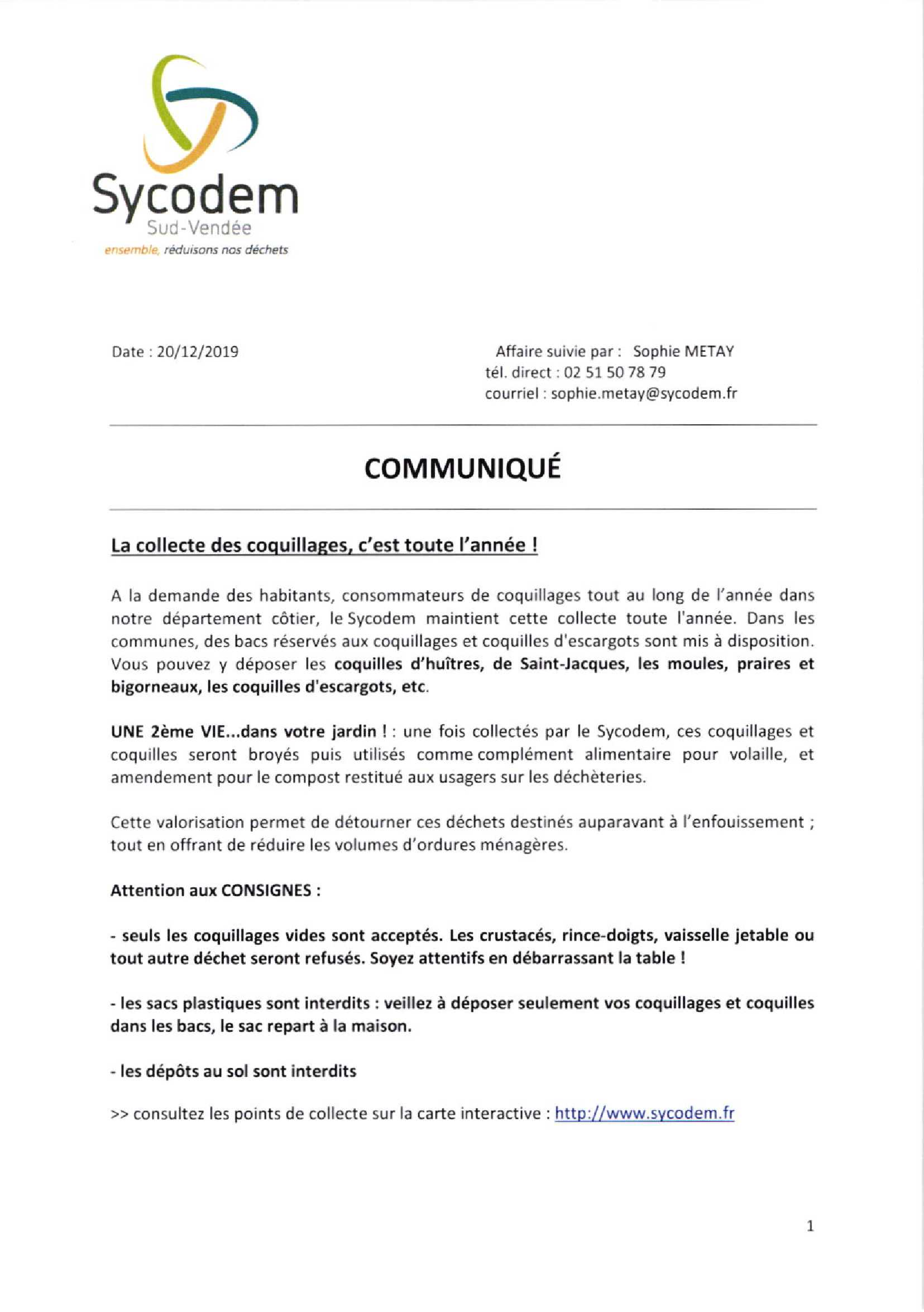 communiqué Sycodem 2